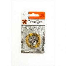 X Brass Picture Wire (Blister Pack) - No. 2